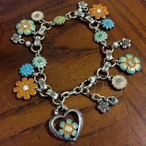 BRIGHTON Bloom From Within Enamel Charm Bracelet